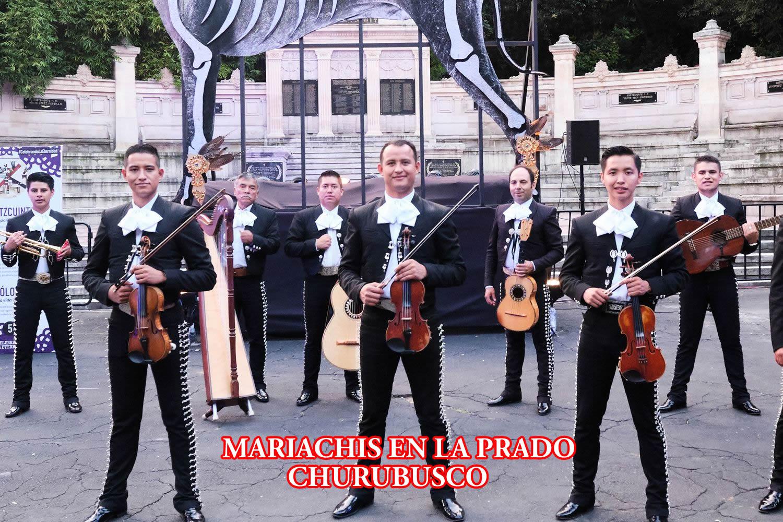 Mariachis en la Colonia Prado Churubusco